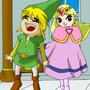 Link and Zelda by sukisho