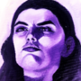 Figure Study - Purple Portrait