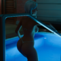 Ashe in the pool