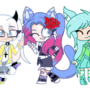 Gachatubers Row 1 (I quitted on this project ._.)