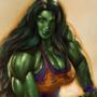 She Hulk pumping iron
