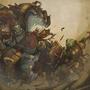 ogre magi vs. orc warrior by jouste