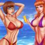 Daphne and Velma advertise sunscreen
