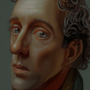 Portrait of a Somber Man
