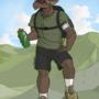 Stan takes a hike