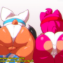 Amy and Rouge at the Gym