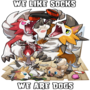 Merch: We are dogs and we like socks