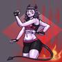 demon girl artfight2020