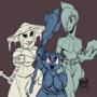 Adventuring trio