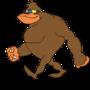 cool gorilla by arunguru
