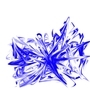 Abstract Blue and White by 7-Bit