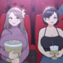 At the movies - Natasha and Alison