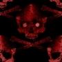 Red Tile Skull by spade101