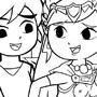 Zelda's... True nature!! inked by 31inDM4sTeR