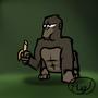 Gorilla likes banana by Hugge93