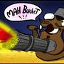 Space Walrus with Minigun by aniforce
