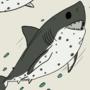 Felt like drawing Salmon Sharks today