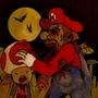 mario eats a fleshy mushroom