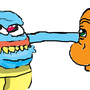 Squritle and Charmander Goofy by IS1508