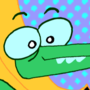 Banana Alligator Rockin' Out