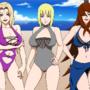 Tsunade, Samui and Mei at the Beach