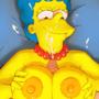 Marge Simpson titjob commission
