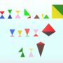 2 colors, 2 triangles. Guess the characters.