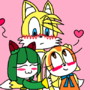 cream and cosmo hugging tails