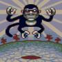 Levitating monkey