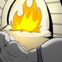 Toriel by fire