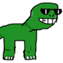 cool dinosaur - first drawing (done with a computer mouse)