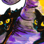 Two Black Cats on a Witch's Hat