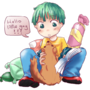 green haired boy by rupus