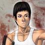 Bruce Lee Anime-ized