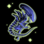 Xenomorph Sticker Design