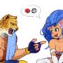 King & Felicia [Tekken x Darkstalkers]