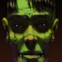 Neon zombie portrait