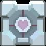 Pixel Companion Cube by pizzapants
