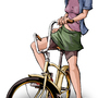 Bike girl by tappets