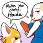 Commission: Retsuko and Inui