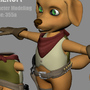 'Sheruff' 3D cartoon dog by maficmelody