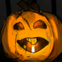 Pumpkin drawn with opposite hand