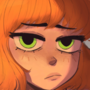 She has striking eyes