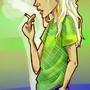 Light me a fag, mate? by SkittleBug