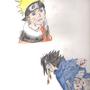 Naruto and Sasuke by Leedove