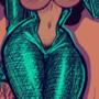 Xochi in a shiny dress