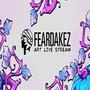 LIVE NOW   🎃 ART STREAM 🎃  FEARDAKEZ