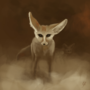 Fennec Fox in a Sandstorm