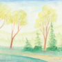 Watercolor pencil test