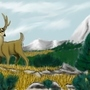 Mountainous Mule Deer by FiraPhoenix